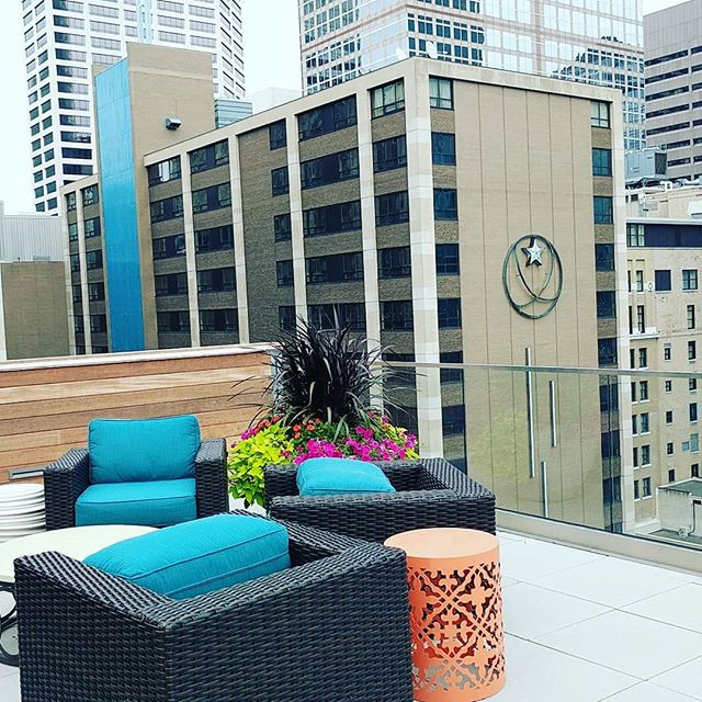 Rooftop in downtown Minneapolis