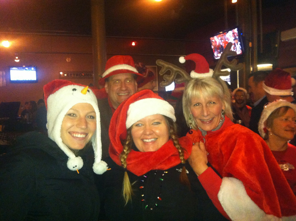 Lowertown SantaCon 2013. neighbors, Santas, Bulldog