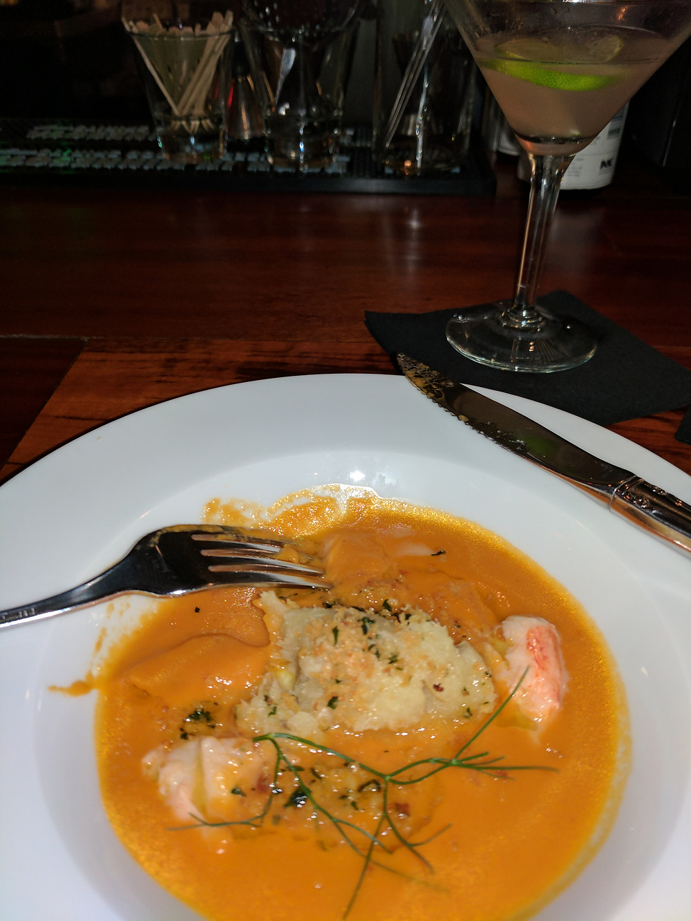 Lobster and Potato with Bisque from Sainte Dinette