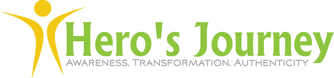 Awarness, Transformation, Authentcity. Logo. Hero's Journey