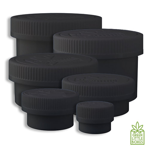 BLACK|Child resistant jar|marijuana container|dispensary supplies|Cannabis containers|COLORED CHILD RESISTANT jars