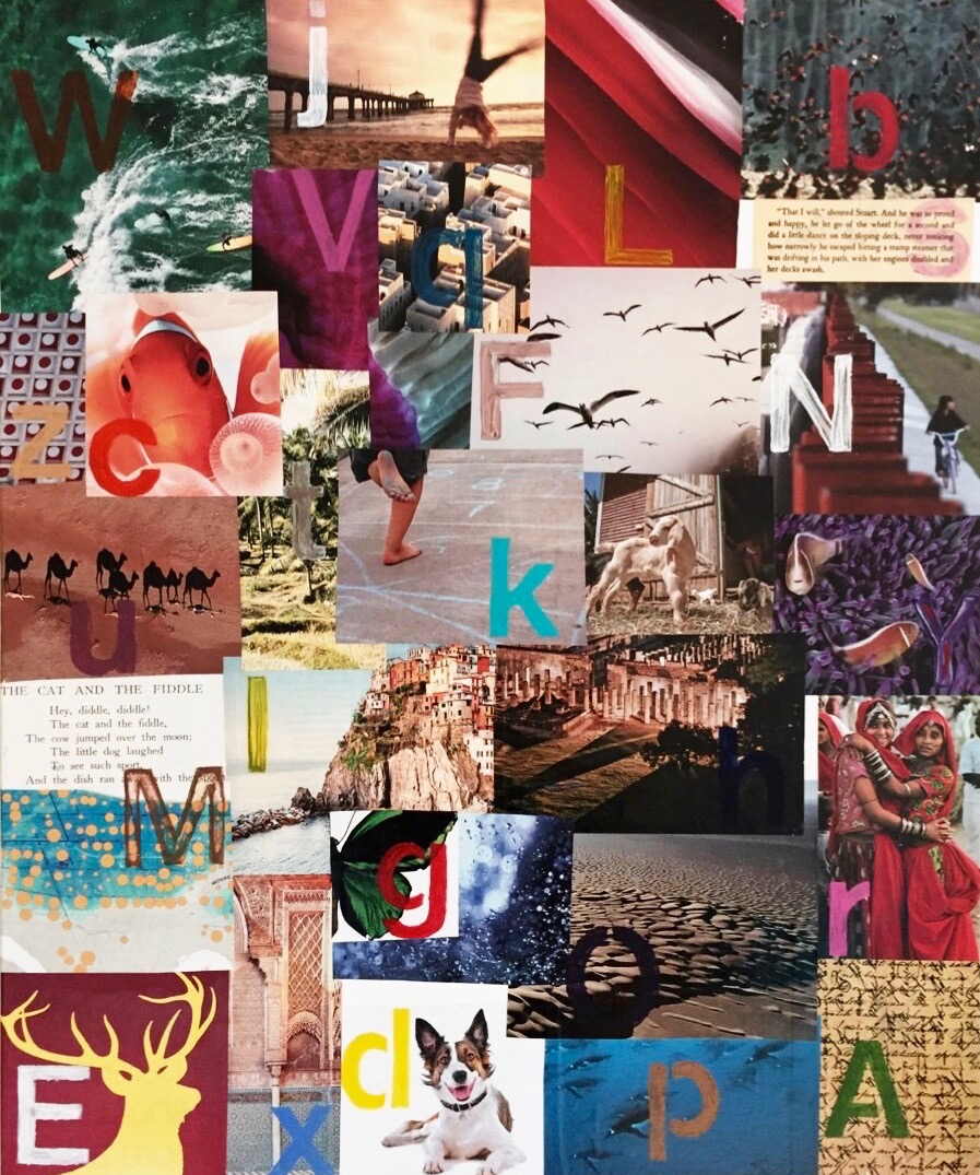 Alphabet collage for S