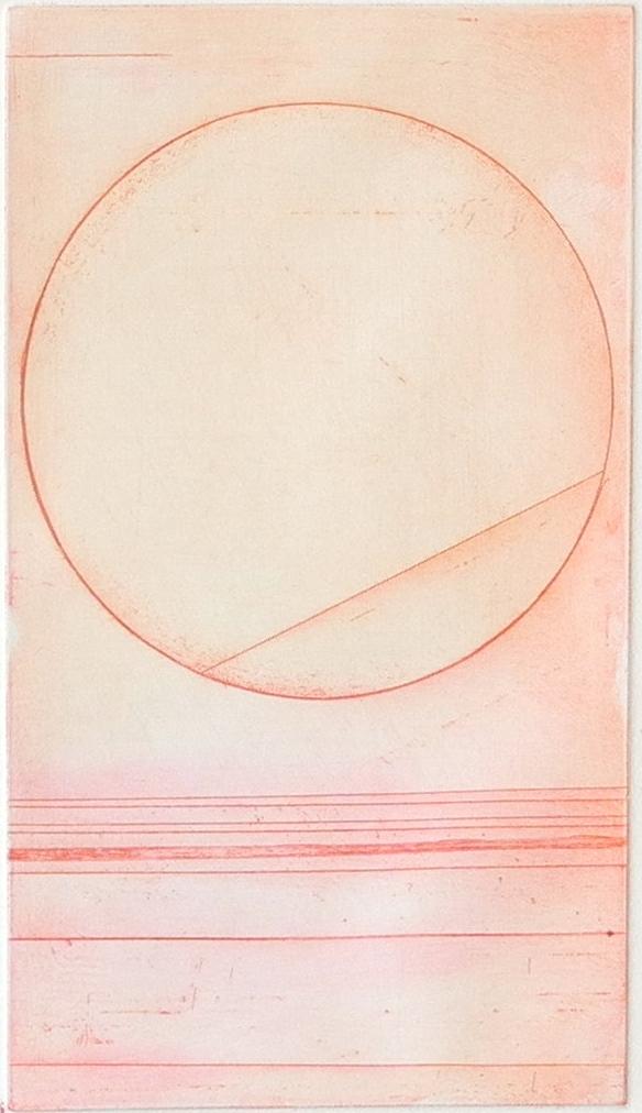 Line inside circle