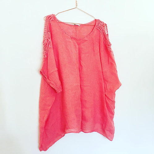 Loved Linen Coral Top