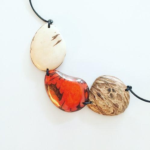 Trio Slice Necklace - Orange