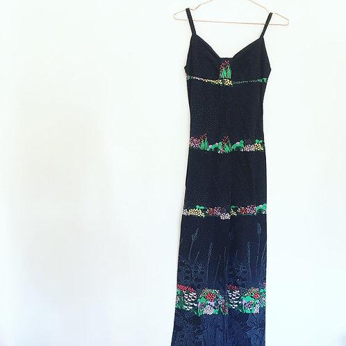 Italian 1970's Maxi Dress