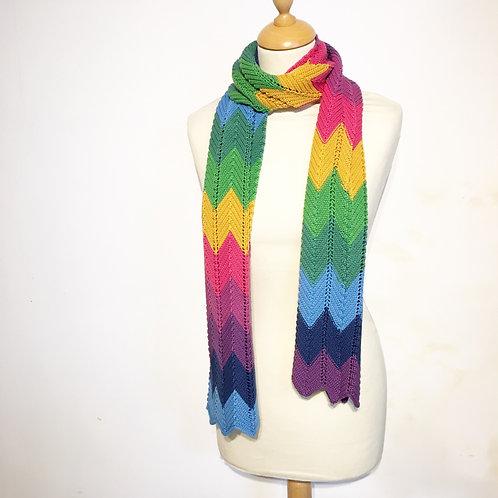 Ridge Rainbow Scarf