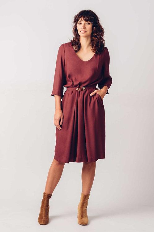 Alazne Cognac Dress