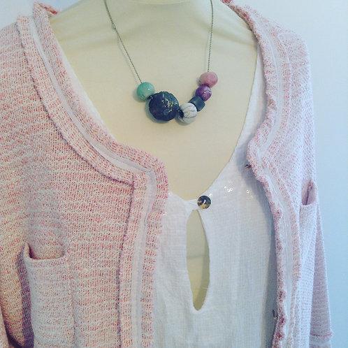 Sparkle thread pink long line jacket