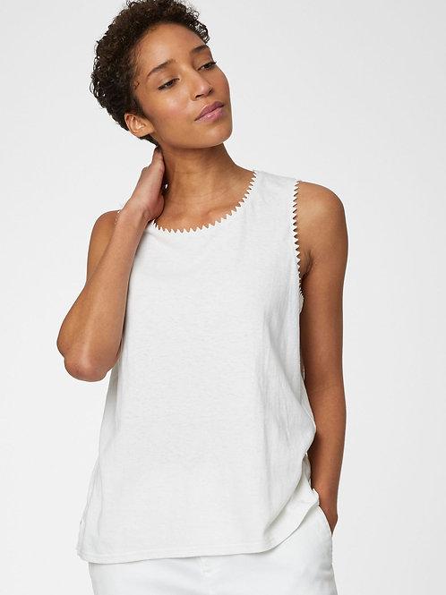 Betta Hemp Top in White