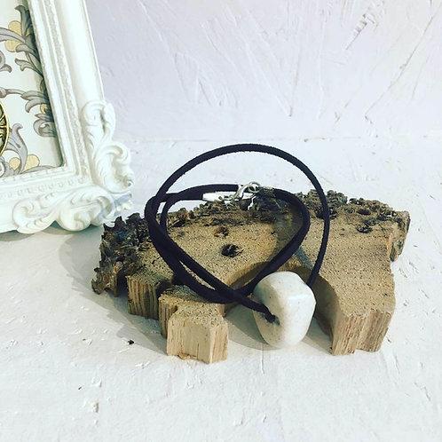 Raku Single bead necklace