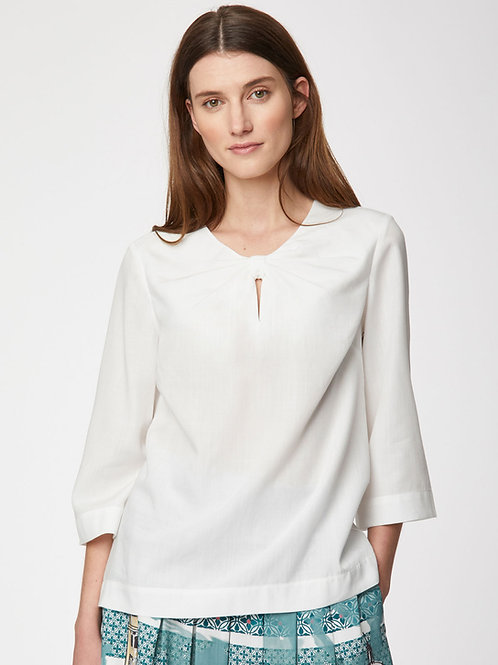 Valentina Blouse in Classic White