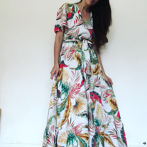 Amaranto Maxi Dress  - Giungla