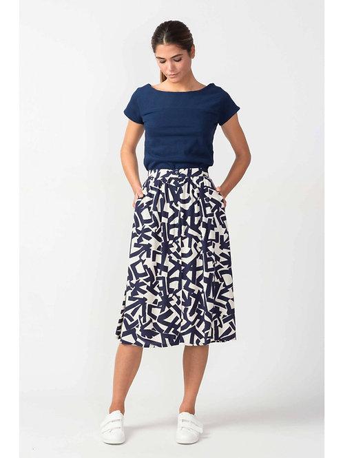 SKFK Geo Print Midi Skirt