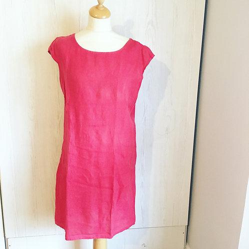 Loved Linen Red Shift Dress