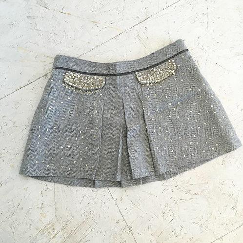 Wool flippy skirt
