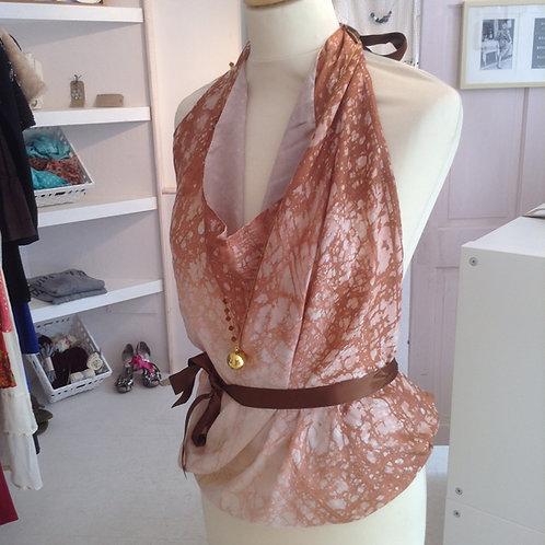 Vintage Italian Silk Scarf Top