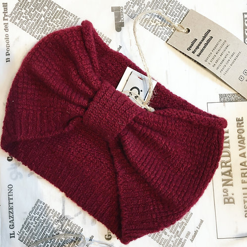 Recycled Cashmere Headband in Bordeaux