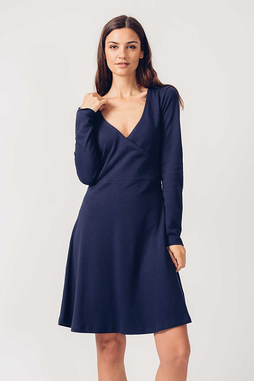 Balen Navy Wrap Dress