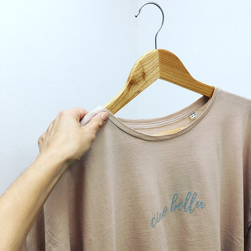 The Ciao Bella tee in Rosy