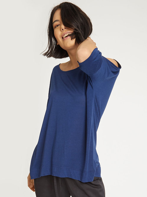Riana Bamboo Top in Sapphire Blue