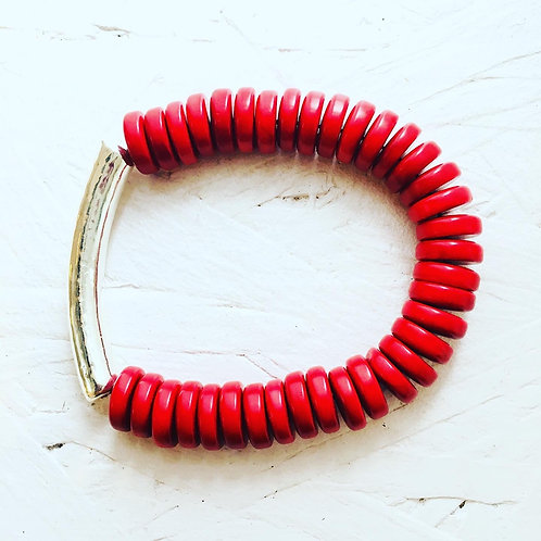 Manaus Bracelet - Berry Red