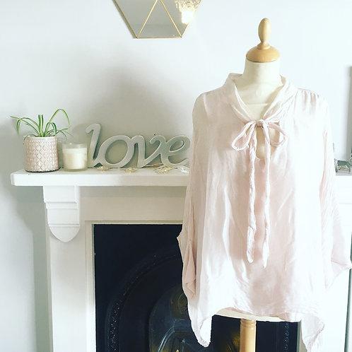 Silk Blouse in Rose Pink