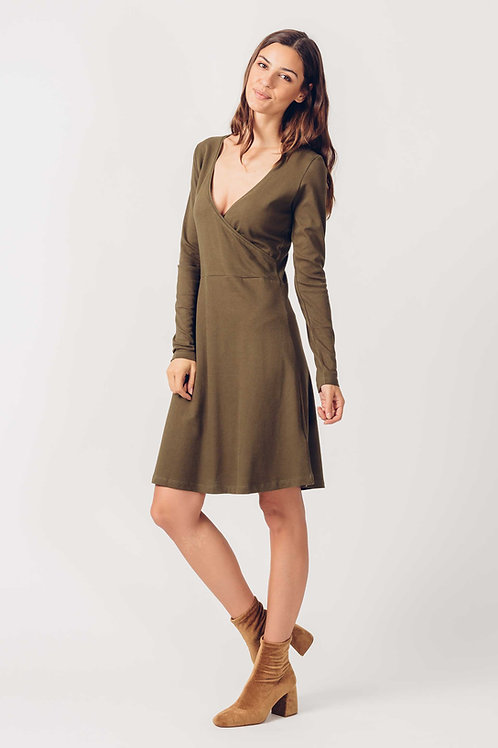 Balen Olive Wrap Dress