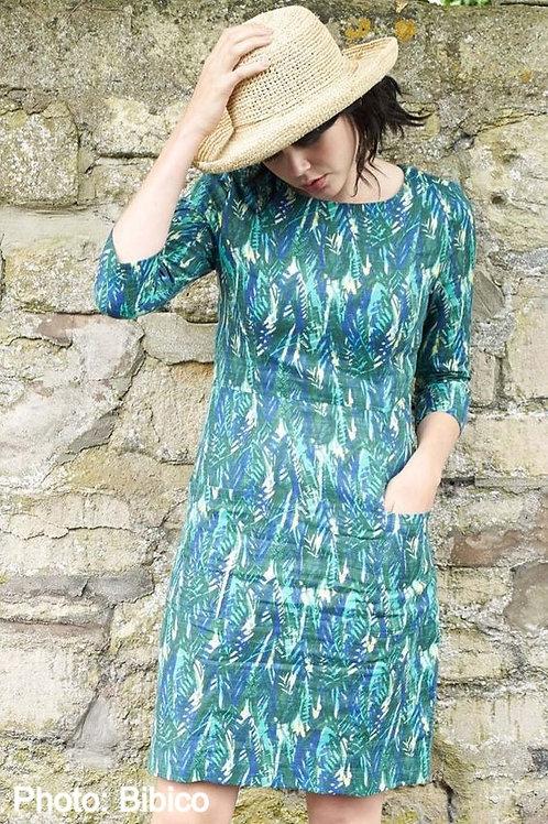 Botanical Print Day Dress