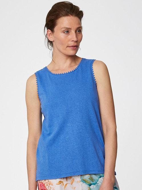 Betta Hemp Top in Marina Blue