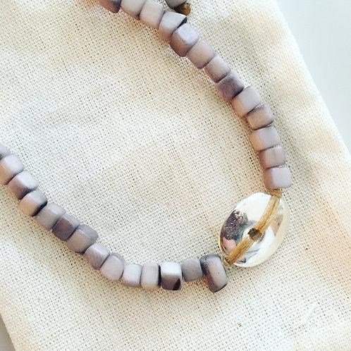 Leticia Mini Square Tagua Bracelet - Grey