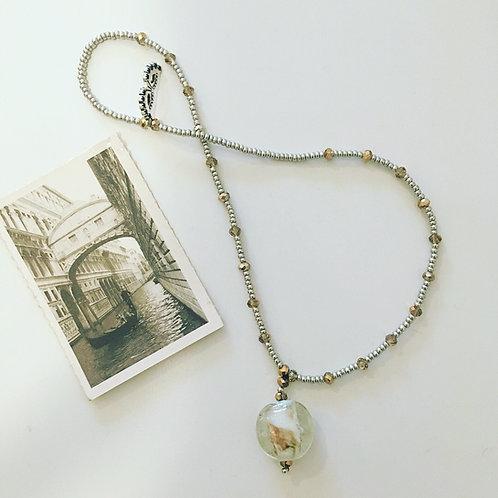 Murano glass and Swarovski bead pendant