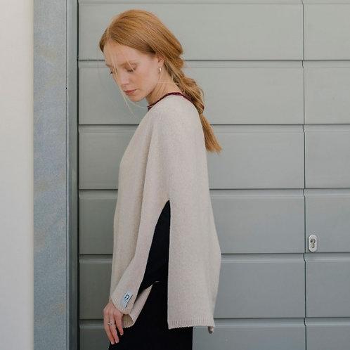 Anna Poncho in Soft Beige