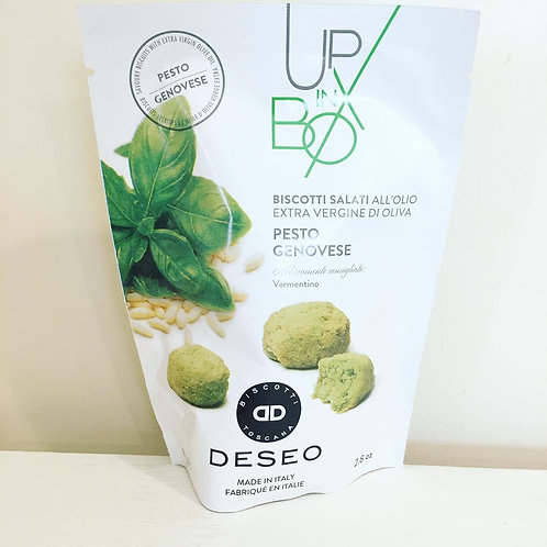 Deseo Apertivo Biscuits with Pesto Genovese