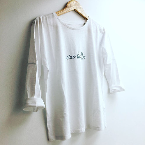 The Ciao Bella tee in Classic White