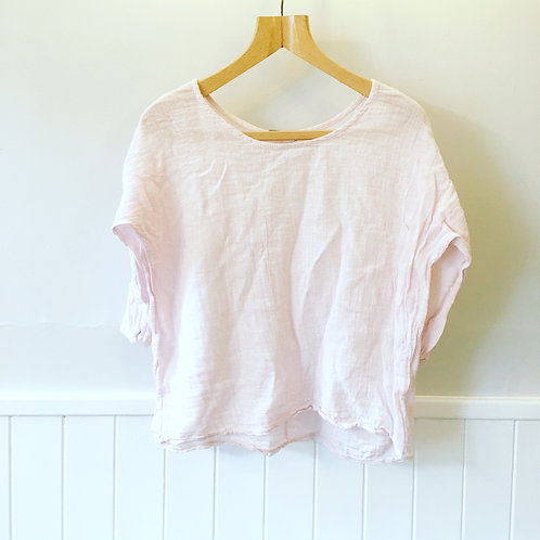 Loved Linen Pink Top