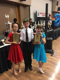 Winners of Beginner Level Ballroom