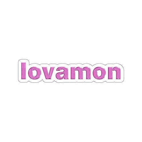 LOVAMON TEXT LOGO STICKER