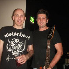 With the legendary Joe Satriani