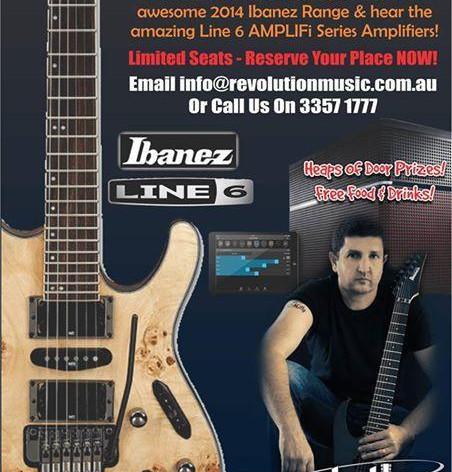 MASSIVE IBANEZ + LINE 6 NIGHT at REVOLUTION MUSIC, Newmarket Rd, Windsor_                 NEXT THURSDAY NIGHT!!!