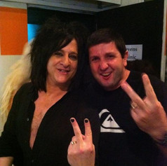 Steve Stevens and I!! I love this guy!!