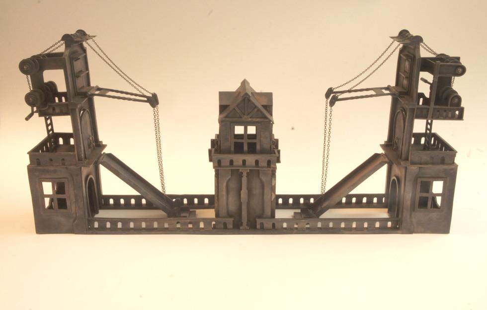 跳ね橋の双子滑り台