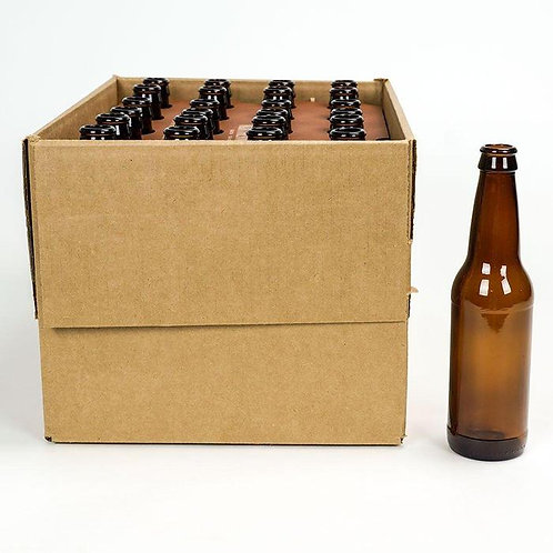 Beer Bottles, Brown, 12 oz, 24 bottles per case