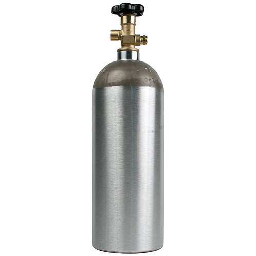 Aluminum Co2 Cylinder, 5 pound capacity