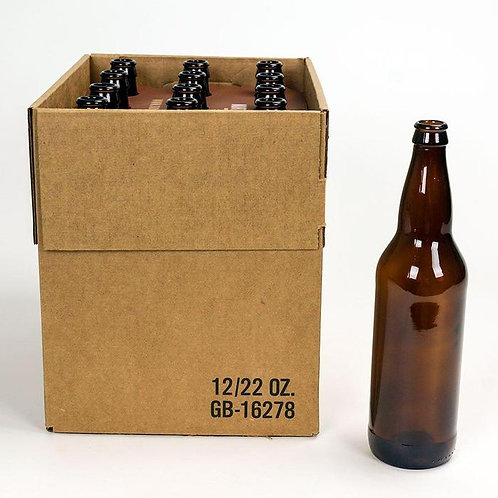Beer Bottle, Brown, 22 oz