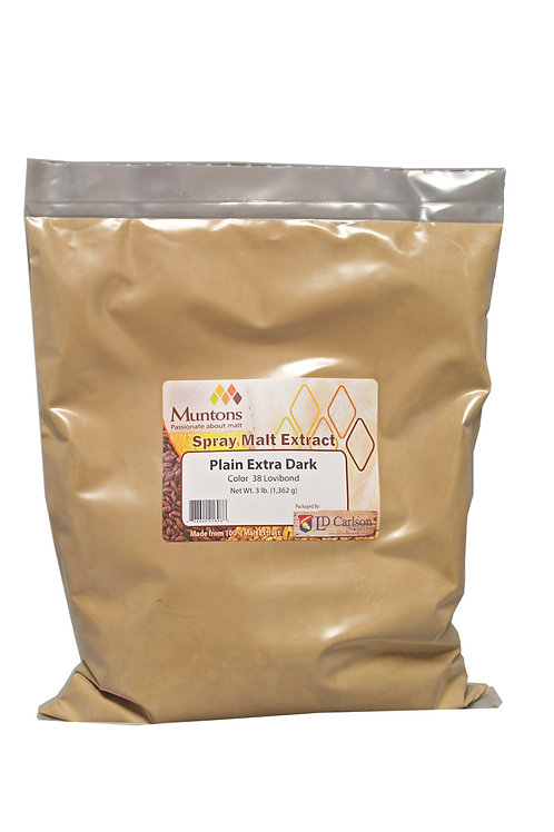 Muntons 3lb Plain Extra Dark Spray Dried Malt Extract