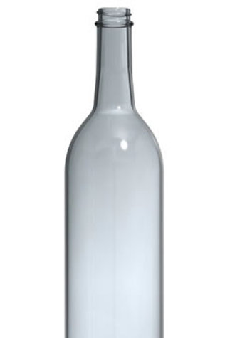 Wine Bordeaux Bottles, Clear Cork, 750 ml, 12 bottles per case
