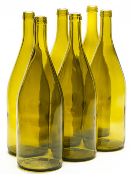 Wine Bottles, Green, 1.5 Liter, 6 bottles per case