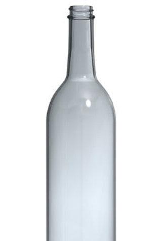 Wine Bordeaux Bottles, Clear Screw cap, 750 ml, 12 bottles per case