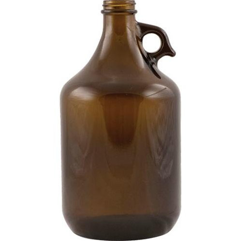 Beer Growlers, Brown, 64 oz, 6 bottles per case